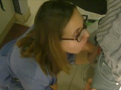 Amateur public Blowjob in the fitting room shop