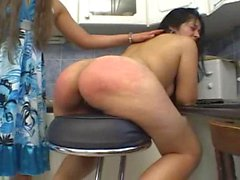 the kitchen bitch spanking