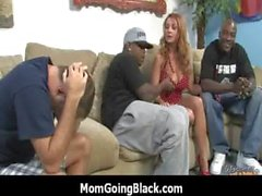 Milf has her FIRST INTERRACIAL hardcore sex 7