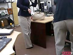 Booby business lady banged by pawn dude for a plane ticket