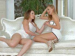 Yasmin Scott and Ivana Sugar chatty lesbians have