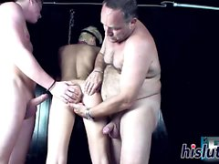 Two fat cocks for a kinky blonde