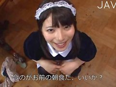 Japanese Maid Serving PoV