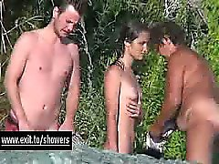 Shower Spy cams in Naturist Resort