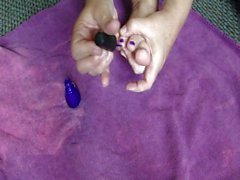 Painting My Toes....Purple