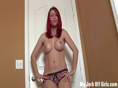 Made to jerk off by the hot neighbor girl