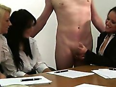 CFNM jerking loving managers