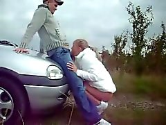 Amateur Couple Quickie On Car WF