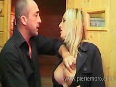 Amateur French blonde eats his rod and gets her pussy fisted