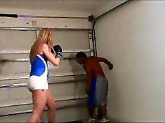 Sadistic girl beats him up and laughs