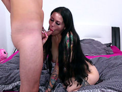 German Goth Teen Xania in Creamy Rough Fuck and Cum on Belly