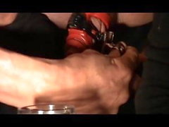 So Much Cum in Chastity with pierced Balls - CBT Prostate