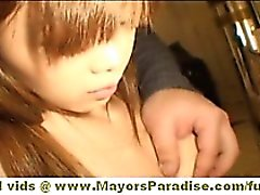 Maria and Yuka Chinese girls fondle each others pussies