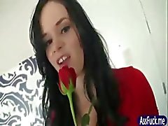 Brunette GF gives anal for valentinesday