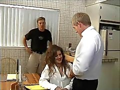 Old Man Cuckolds Hairy Janis Jones' Young Husband