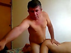 Excited daddy coarse arsehole