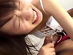Haruka Aoi blows hard before getting jizzed on face