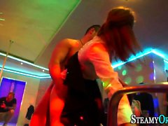 Party teens sucking cock
