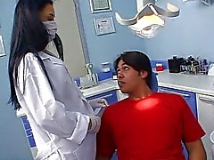 Sexy Latina dentist fucks her patient
