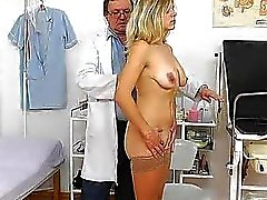 Madam enjoys the gyno checkup