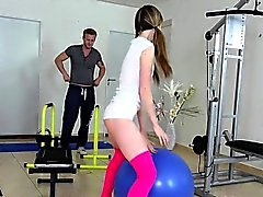 Schoolgirl Jessy C Gets Fondled By Gym Buddy