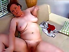 Hairy Mature Romana On Sofa