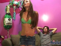 Kinky Capri sucks on a long dick