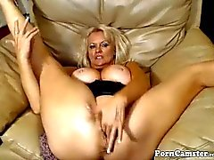 Nasty 47 year old slut teasing on webcam