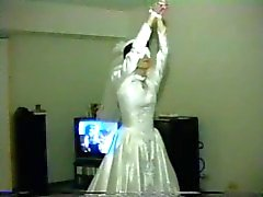 wife gangbang in wedding dress