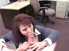 Hardcore pov blowjob MILF sells her husband's stuff for bail