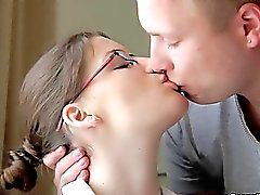 Casual Teen Sex - Messy facial for nerdy slut