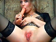 Hot Blonde Makes her Tight Pink Pussy Wet