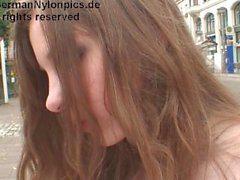 German pantyhose Girl in the City