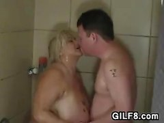 Fat Granny Being Fucked In The Shower