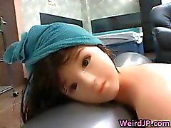 Asian Babe Fucking a plastic Doll part6