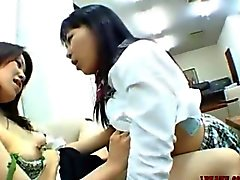 Asian Schoolgirls Kissing Licking And Sucking each other