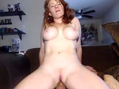 Redhead babe Blowjob and swallow