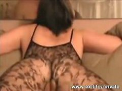 Creampie my wife Paula in pantyhose