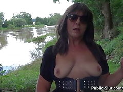 More flashing and sex in public with hot wife Marion