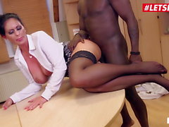 LETSDOEIT - Big Tits German Secretary by BBC Repairman
