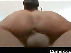 Bubble Butt Afro Penetrated With Huge Dick