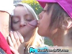 Beautiful french gfs on a hot threeway part1
