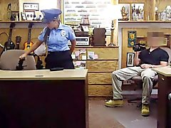 Big boobs latina police officer pounded by nasty pawn dude