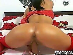 Pierced pussy gets fingered