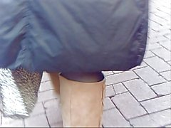 Pandora's upskirt big clit and lips in public Tamworth