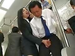 Asian Handjob In Bus