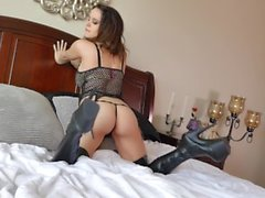 Bryci in Thigh High Boots Orgasming