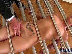 Kinky Kathia gets restrained and spanked