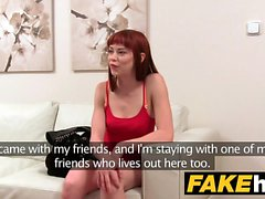 Fake Agent Creampie for new Redhead American