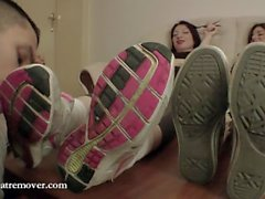 Sweartremover trainers and socks worship